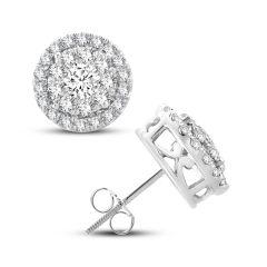 14K  1.01CT  Diamond  EARR.