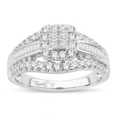 14K  1.00CT Princess Cut Diamond Bridal Ring