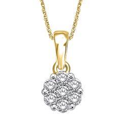 14K  0.53CT  Diamond  Pendant
