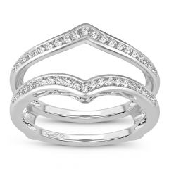 14K  0.38CT  Diamond RING GUARD